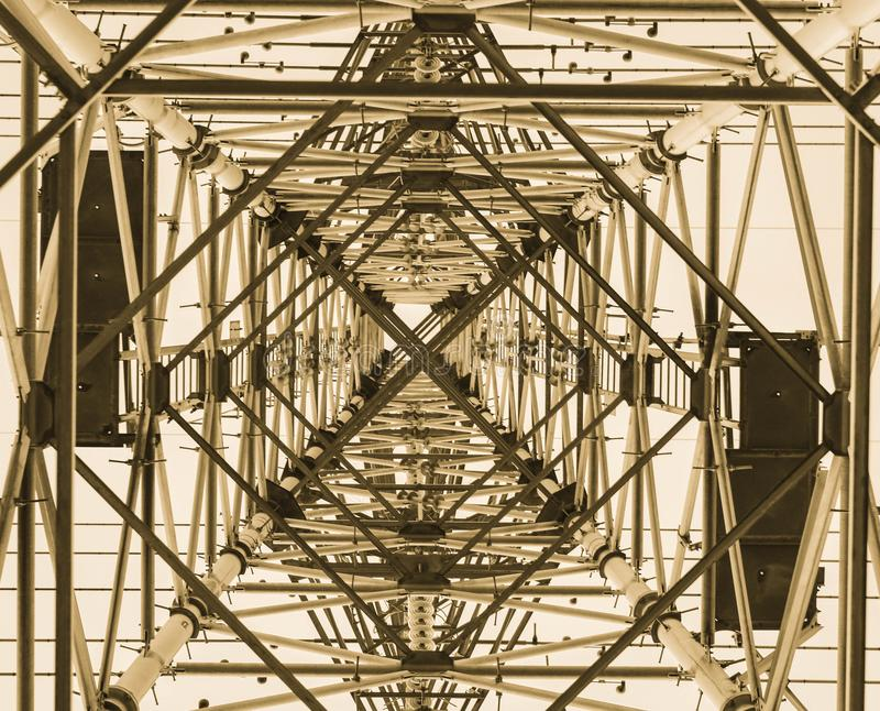 Pylon from below royalty free stock photography