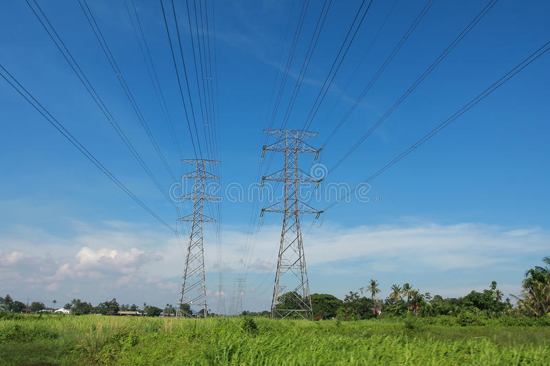 Download Pylon towers stock image. Image of electrical, outside - 14435035