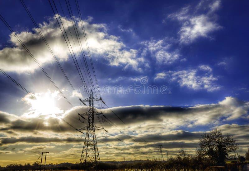 pylonen royalty-vrije stock fotografie