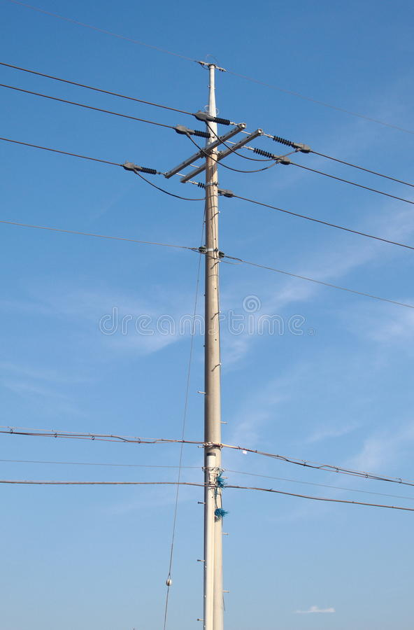 Download Pylons Background In The Sky Stock Image - Image: 25171385