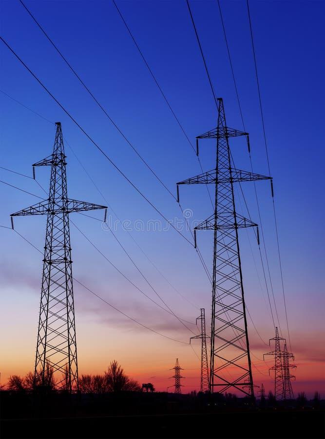 Pyloon van de de Torenenergie van de hoogspannings de Elektrische Transmissie royalty-vrije stock foto's