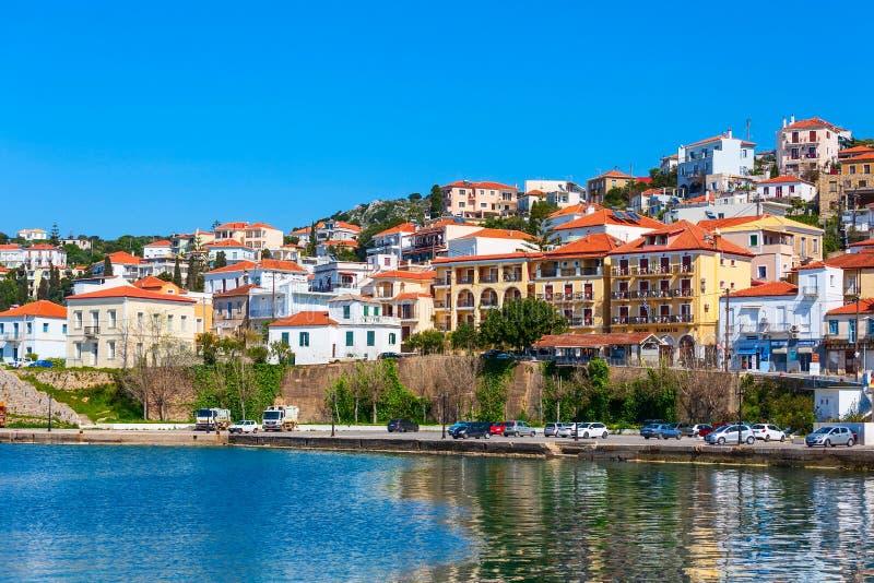 Pylos, vue panoramique de ville de la Grèce photo stock