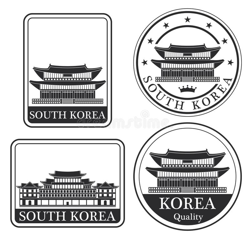Pyongyang abstrato ilustração stock
