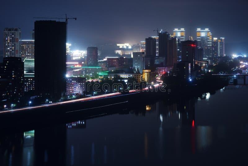 Pyongyang, capitale della Corea del Nord Il DPRK fotografia stock