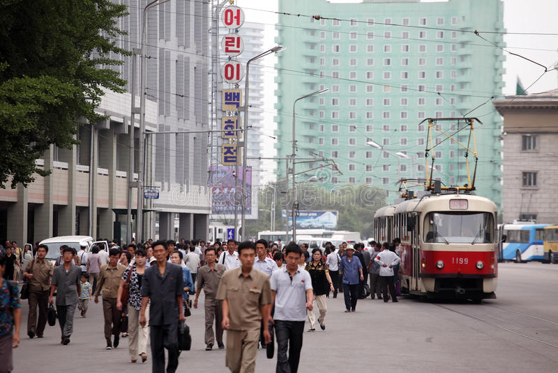 Pyongyang Cityscape 2013 Editorial Stock Image