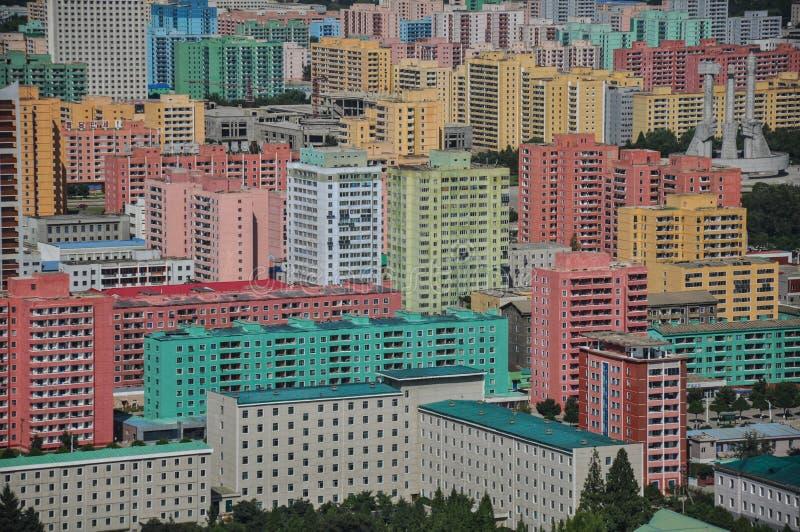 Pyongyang come visto dalla torre di Juche immagini stock