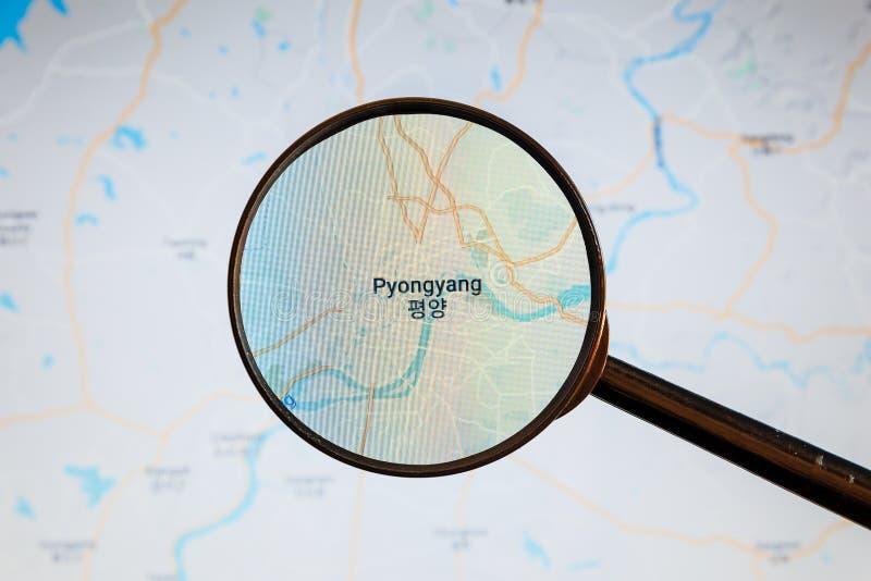 Pyongyang, Corea del Norte correspondencia pol?tica imágenes de archivo libres de regalías