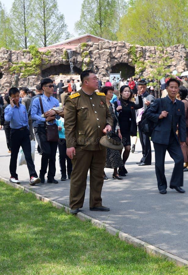 Pyongyang, Corea del Norte Gente imagen de archivo libre de regalías