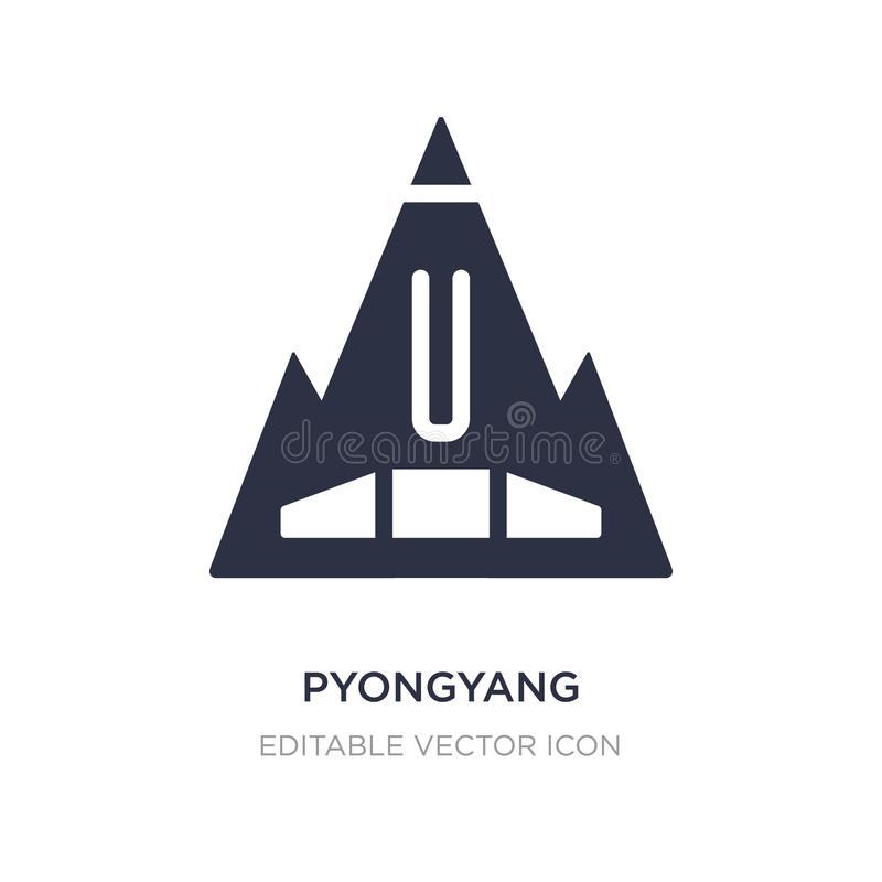 pyongyang icon on white background. Simple element illustration from Monuments concept royalty free illustration