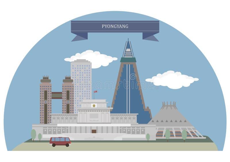 Pyongyang, Korea di Nord royalty illustrazione gratis