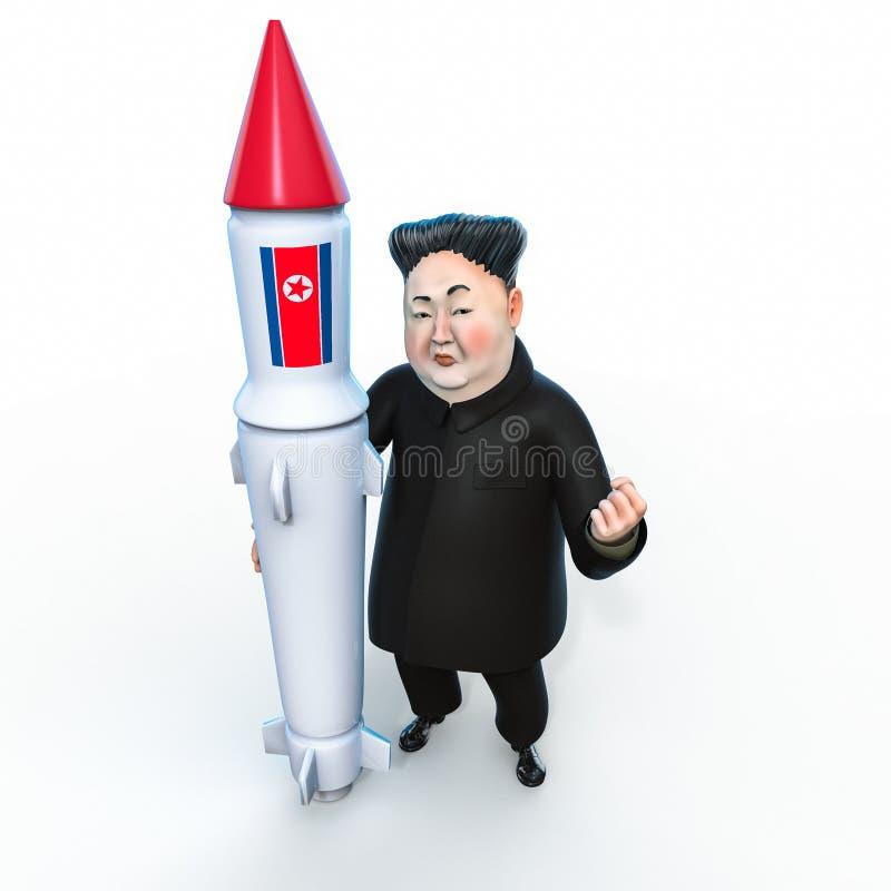 Pyongyang, l'11 aprile 2017: La Corea del Nord minaccia di utilizzare le Armi nucleari Ritratto del carattere di Kim Jong Un