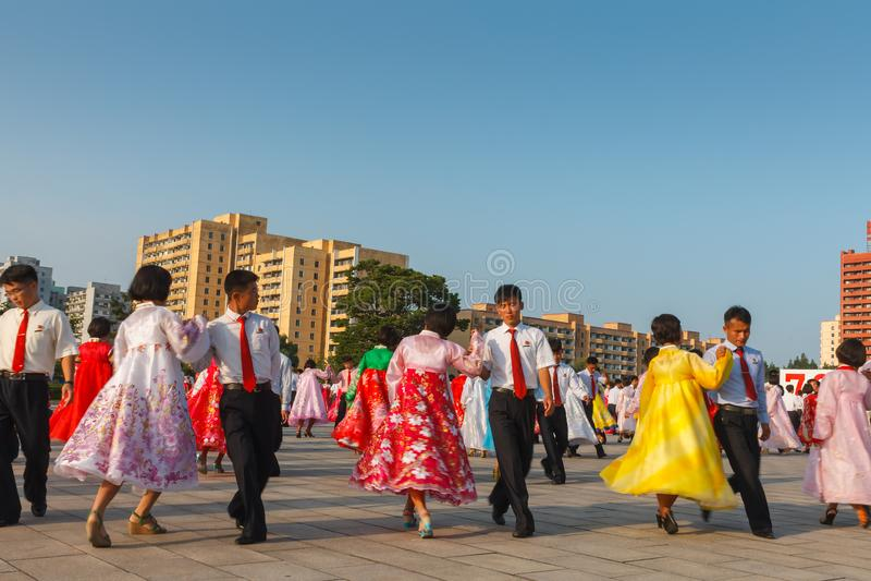 Pyongyang, Noord-Korea royalty-vrije stock foto