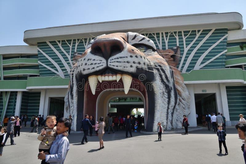 Pyongyang, Nordkorea zoo lizenzfreies stockbild