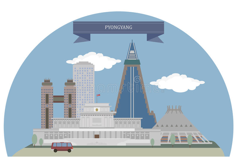 Pyongyang, North Korea royalty free illustration