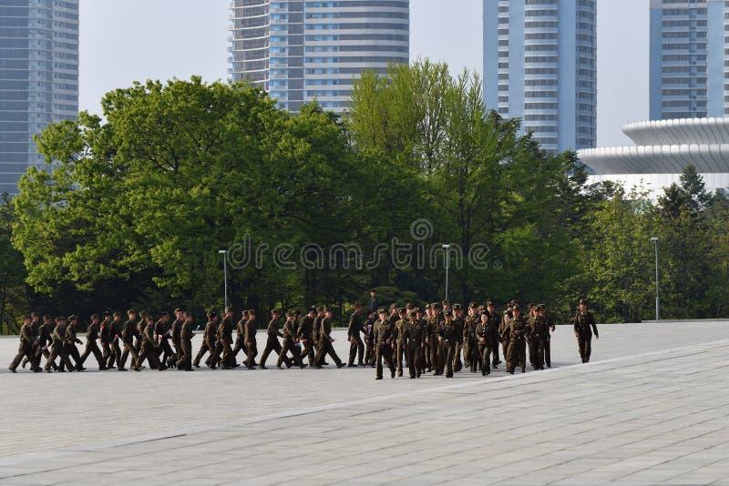 Pyongyang, North Korea. Pyongyang. The soldiers stock photo