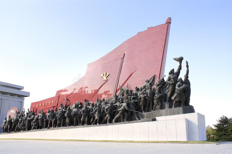 PYONGYANG, NORTH KOREA, SEPTEMBER 14, 2017: Grand Monument Mansudae royalty free stock images
