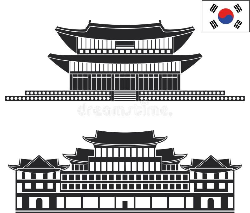 pyongyang reeks stock illustratie