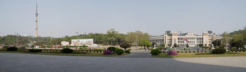 Pyongyang stadscentrum royalty-vrije stock foto's