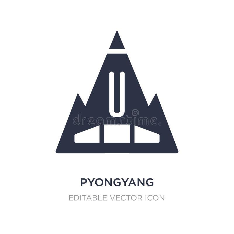 pyongyang symbol på vit bakgrund Enkel beståndsdelillustration från monumentbegrepp royaltyfri illustrationer
