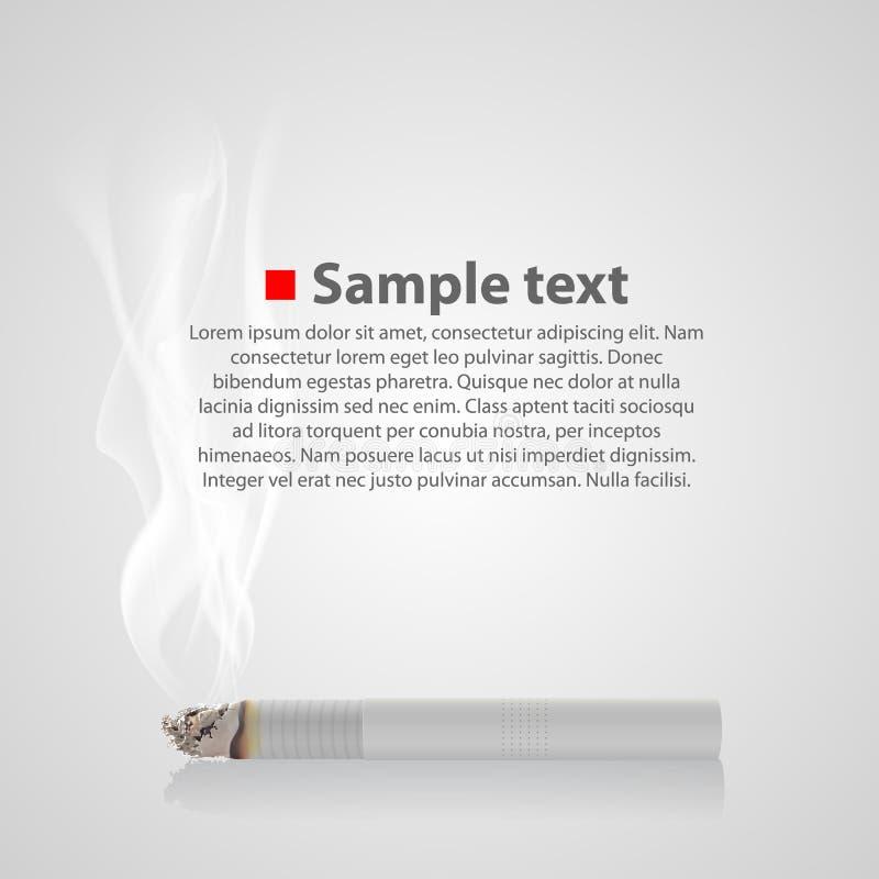 Pyra cigarett med en rök vektor royaltyfri illustrationer