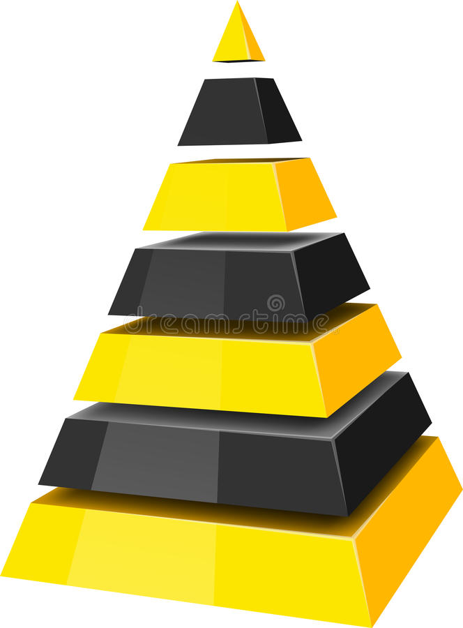 Download Pyramid stock vector. Image of stage, rank, hierarchy - 19426704