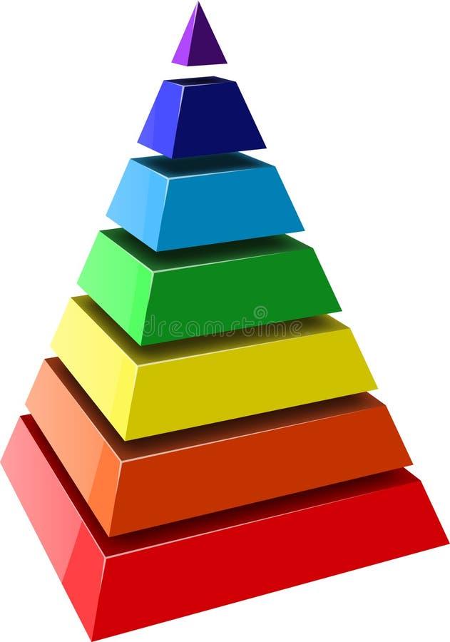 pyramid vektor illustrationer