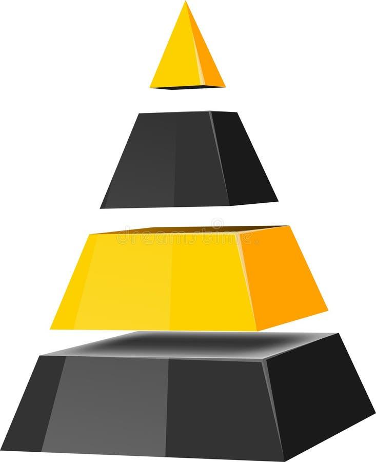 pyramid royaltyfri illustrationer
