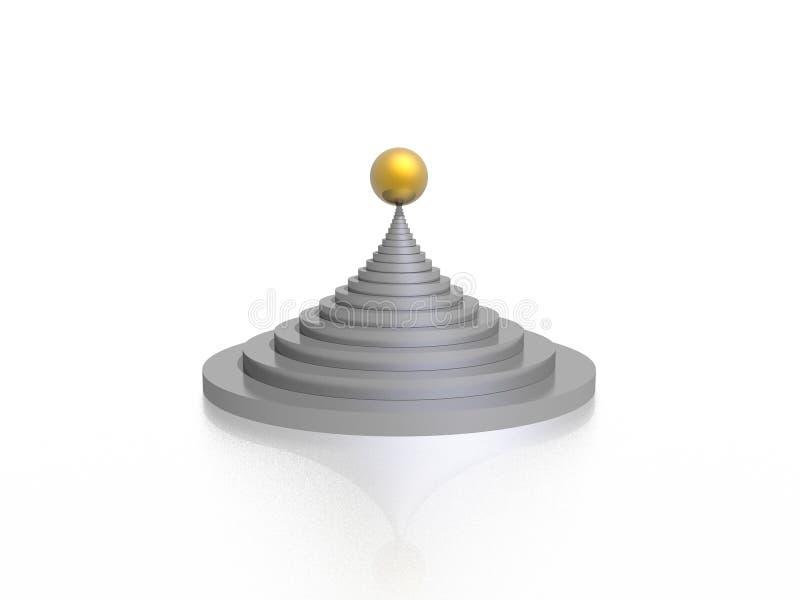 Download Pyramid stock illustrationer. Illustration av increases - 3537525