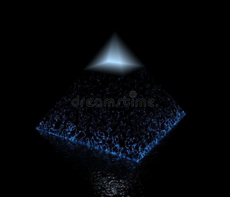 Pyramid. Light pyramid and golden ratio vector illustration
