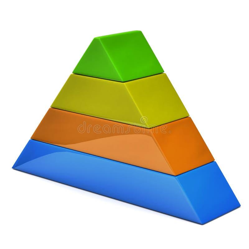 pyramid 3d vektor illustrationer