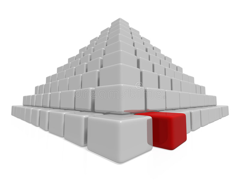Download Pyramid stock illustration. Illustration of concepts, boxes - 4385672
