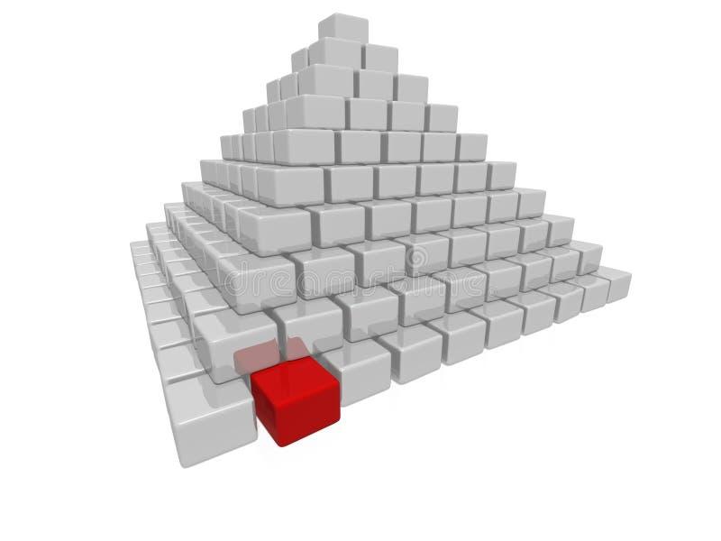 Download Pyramid stock illustration. Illustration of geometry, advance - 6045096