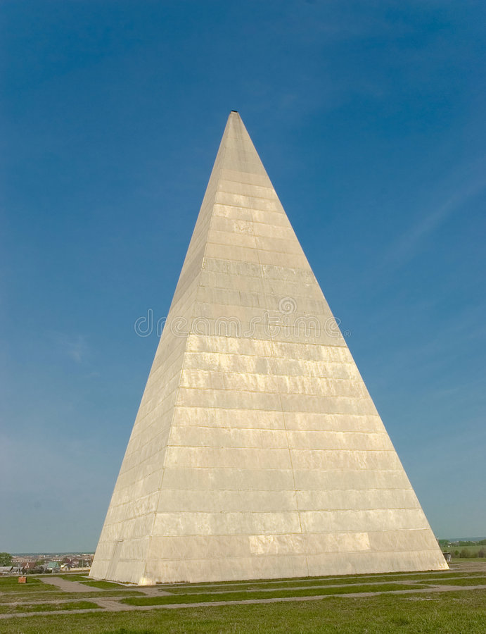 Pyramid. Constructed near Moscow, Russia stock image