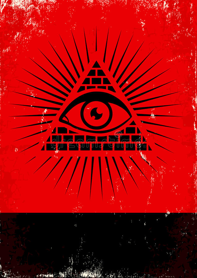 Free Pyramid And The Eye Stock Photography - 24555562