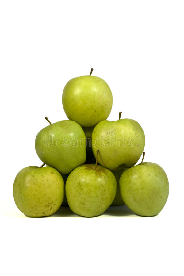 Download Pyramid of apples stock image. Image of mass, green, heap - 9502107