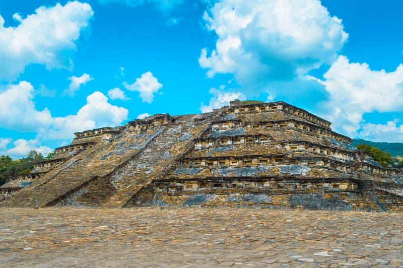 Pyramid in archeological zone: El tajin. Located in Papantla, Veracruz, Mexico stock images