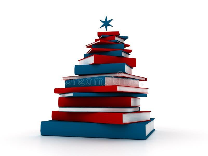 Pyramid av böcker - abstrakt julträd stock illustrationer