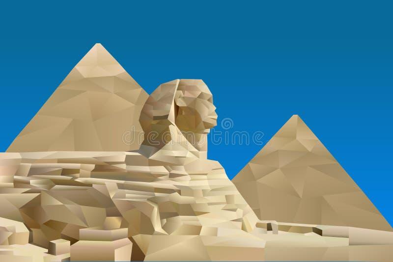Pyramid av Egypten stock illustrationer