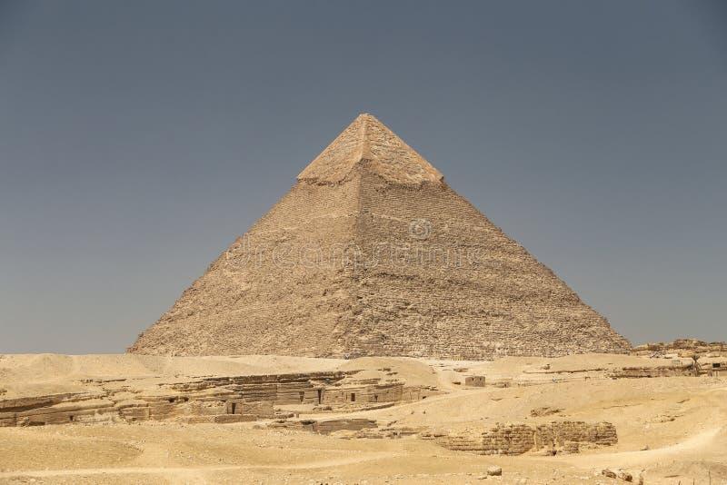 Pyramid av Khafre i det Giza pyramidkomplexet, Kairo, Egypten royaltyfria bilder