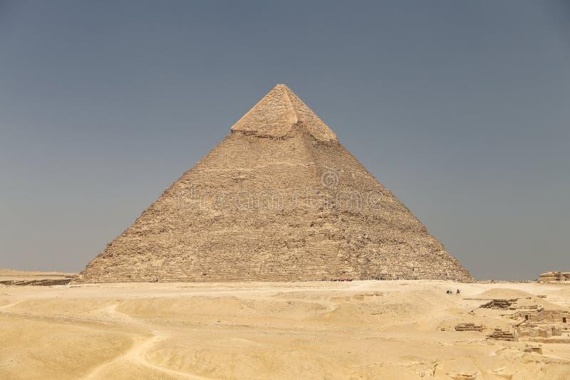 Pyramid av Khafre i det Giza pyramidkomplexet, Kairo, Egypten royaltyfri fotografi