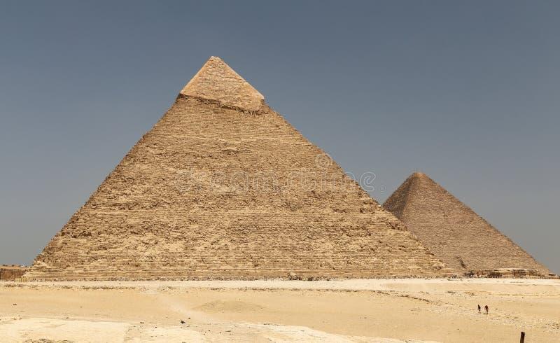 Pyramid av Khafre i det Giza pyramidkomplexet, Kairo, Egypten royaltyfri bild