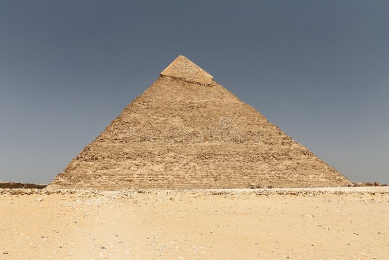 Pyramid av Khafre i det Giza pyramidkomplexet, Kairo, Egypten royaltyfri foto
