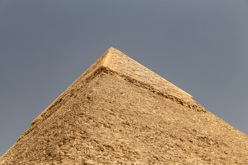 Pyramid av Khafre i det Giza pyramidkomplexet, Kairo, Egypten arkivbild
