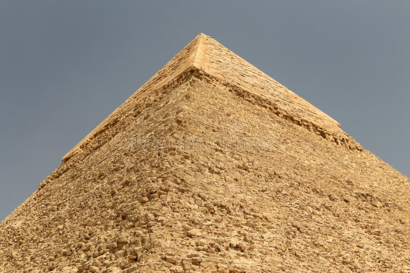 Pyramid av Khafre i det Giza pyramidkomplexet, Kairo, Egypten fotografering för bildbyråer