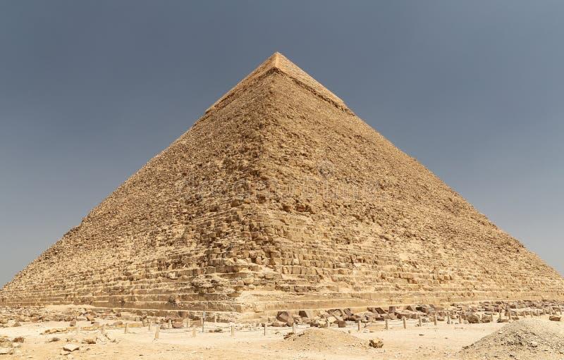 Pyramid av Khafre i det Giza pyramidkomplexet, Kairo, Egypten arkivfoto