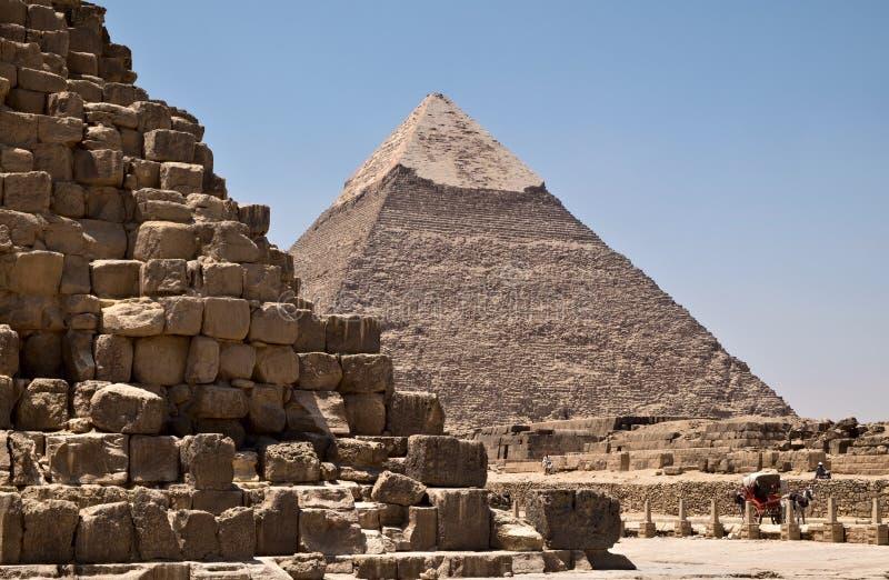 Pyramid av Khafre i Giza fotografering för bildbyråer