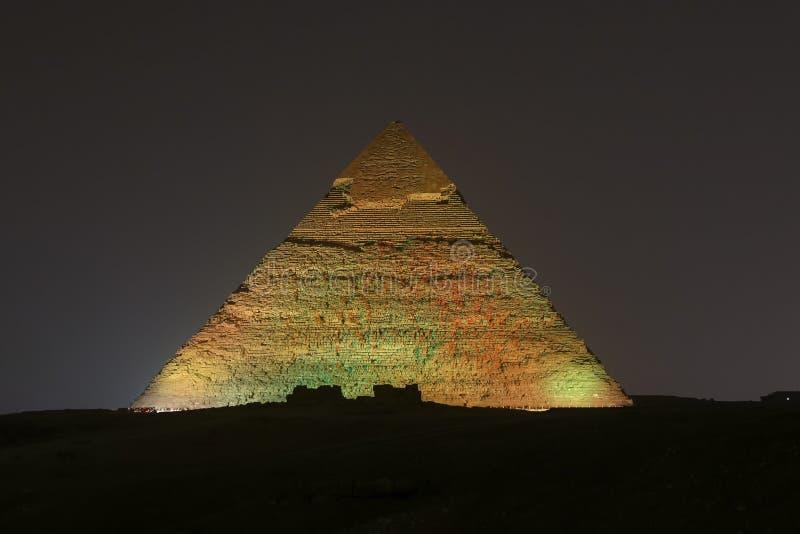 Pyramid av Khafre i Kairo, Egypten arkivfoto