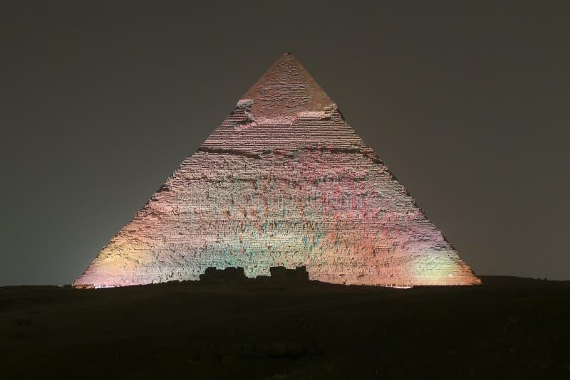 Pyramid av Khafre i Kairo, Egypten royaltyfri foto