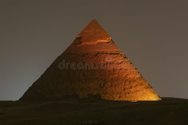 Pyramid av Khafre i Kairo, Egypten fotografering för bildbyråer