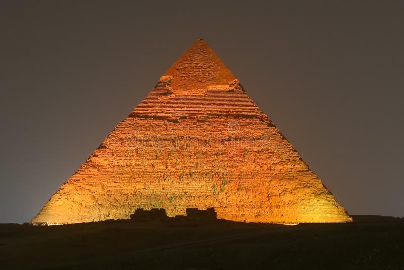 Pyramid av Khafre i Kairo, Egypten arkivbilder